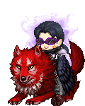 Dark black killer raven